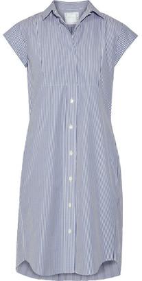 Sacai - Pleated Striped Cotton-poplin Shirt Dress - Blue $555 thestylecure.com