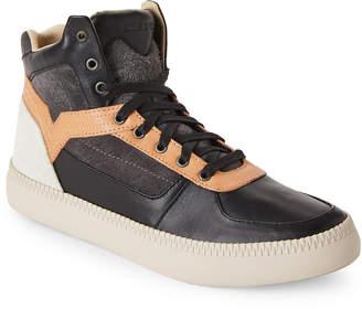 Diesel V Is For Spaark Leather High Top Sneakers