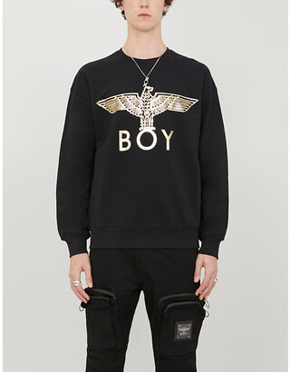 Boy London Graphic-print cotton-jersey sweatshirt