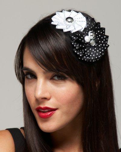 Bebe Grosgrain Flowered Headband