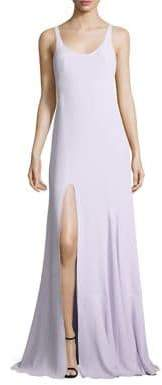 Halston Solid Sleeveless Gown