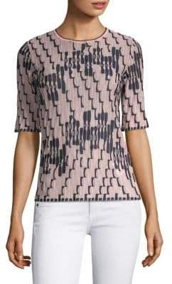 M Missoni Bicolor Wave Print Knit Top