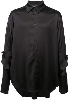 Yang Li cut away collar shirt