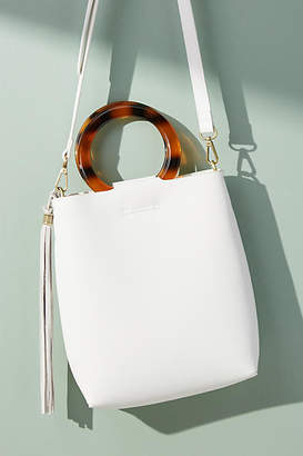 Anthropologie Lucite-Handled Tote Bag