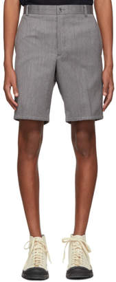 Thom Browne Grey Stripe Unconstructed Shorts
