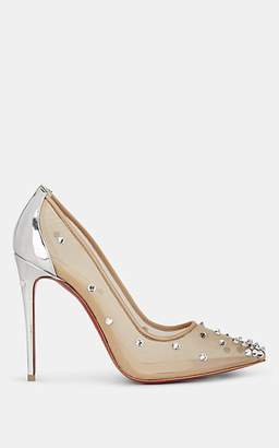 Christian Louboutin Women's Degra Crystal-Embellished Pumps - Nudeflesh