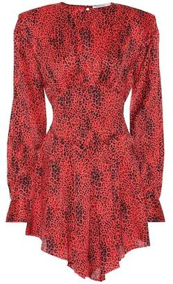 Alessandra Rich Leopard silk minidress