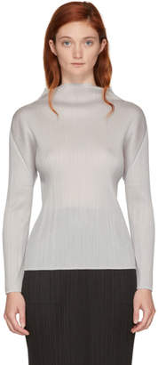 Pleats Please Issey Miyake Off-White Basics Pleated Turtleneck