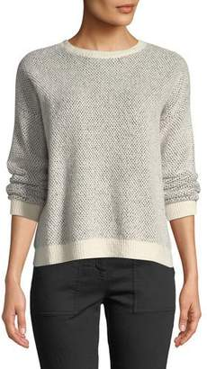 Eileen Fisher Organic Cotton-Blend Long-Sleeve Sweater w/ Rib Trim