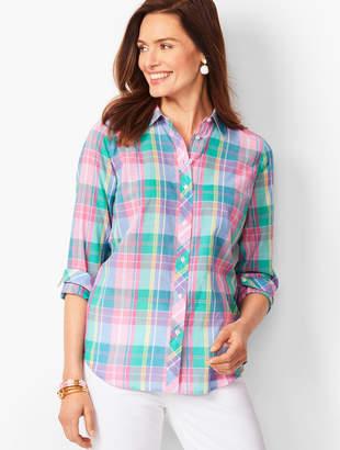 ac77d1c164 Talbots Classic Cotton Shirt - Madras Plaid