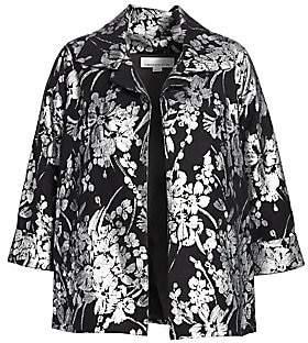 Caroline Rose Women's A-Line Floral Jacket