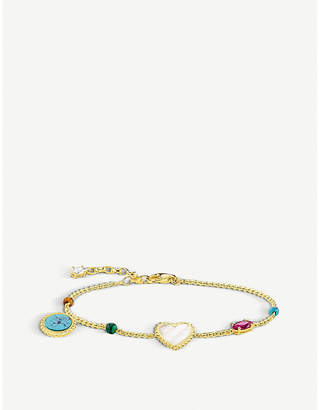 Thomas Sabo Riviera multi-charm 18ct yellow-gold bracelet