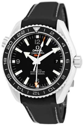 """Omega Seamaster Planet Ocean Stainless Steel """" 600m GMT"""" Strapwatch Mens Watch"""