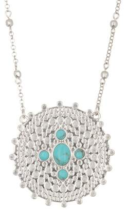 Lucky Brand Turquoise Medallion Pendant Necklace