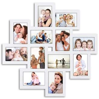 Ebern Designs Haymond Gallery Style Wall Hanging 12 Opening Photo Sockets Picture Frame