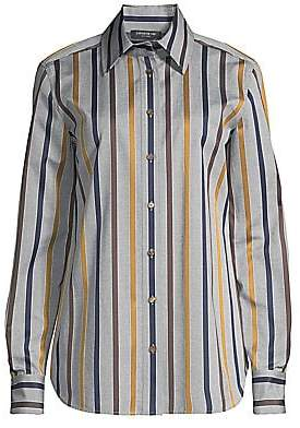 Lafayette 148 New York Women's James Striped Blouse