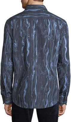 Bugatchi Men's Classic-Fit Ink Flow Woven Sport Shirt