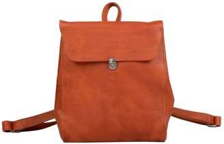 EAZO - Minimalist Genuine Leather Backpack In Brown