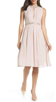 TFNC Beaded Fit & Flare Dress