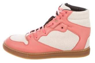 Balenciaga Leather High-Top Sneakers w/ Tags Pink Leather High-Top Sneakers w/ Tags