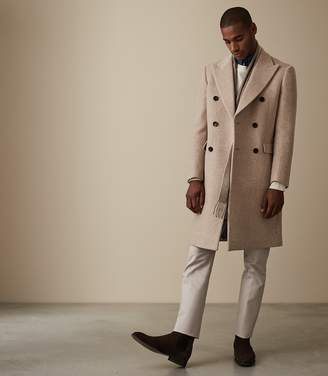 Reiss CARLTON DOUBLE BREASTED OVERCOAT Oatmeal