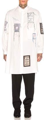 Yohji Yamamoto Chain St Emblem Shirt in White | FWRD