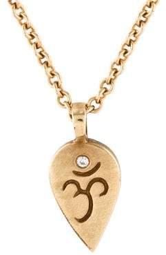 Me & Ro Me&Ro Diamond Om Lotus Pendant Necklace