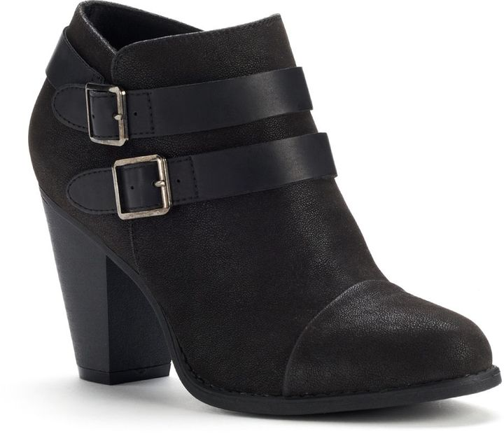 Lauren Conrad two buckle ankle boots - women