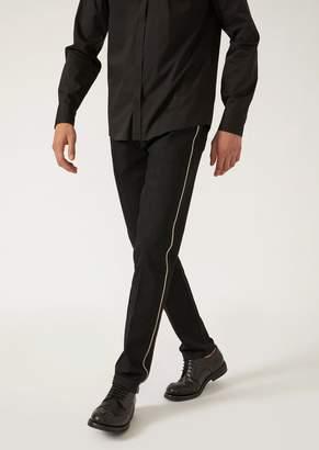 Emporio Armani Slim Fit 12-Oz Denim Jeans With Selvedge
