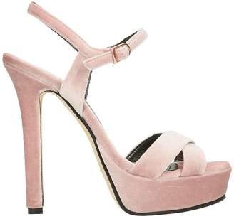 Marc Ellis Plateau Blush Velvet Sandals