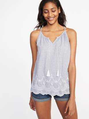 Old Navy Tassel-Tie Embroidered Cami Top for Women