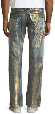 Robin's Jeans Straight-Leg Distressed Jeans