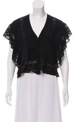 Anna Sui Eyelet Button-Up Cardigan