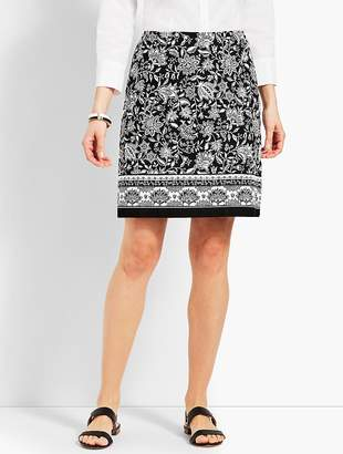 Talbots Dreamy Floral Stretch Cotton Canvas Skirt