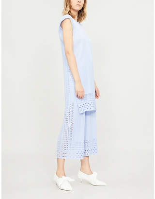 Pleats Please Issey Miyake Dots Lace pleated tunic
