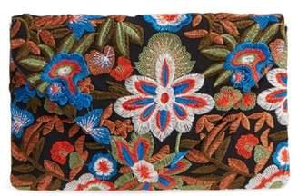 MALIBU SKYE Embroidered Envelope Clutch