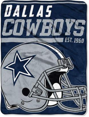 """Northwest Company Dallas Cowboys Micro Raschel 46x60 """"40 Yard Dash"""" Blanket"""