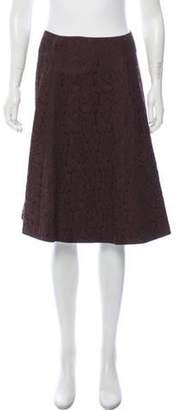 Max Mara Zip-Up Knee-Length Skirt w/ Tags Brown Zip-Up Knee-Length Skirt w/ Tags