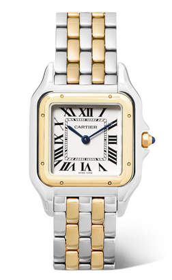 Cartier Panthère De 27mm Medium 18-karat Gold And Stainless Steel Watch