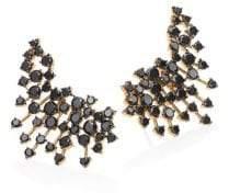 Black Diamond Hueb Hueb Women's Luminus Black Diamond& 18K Yellow Gold Ear Cuffs - Gold Black