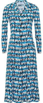 Prada banana and strip print dress