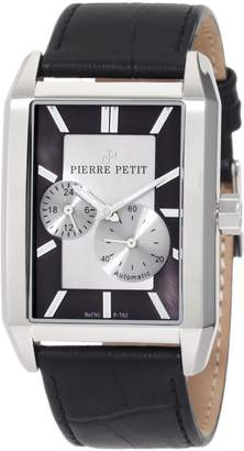 Pierre Petit Men's P-782A Serie Paris Automatic Rectangular Case Genuine Leather Watch