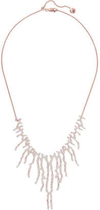 Monica Vinader Riva Waterfall Rose Gold Vermeil Diamond Necklace