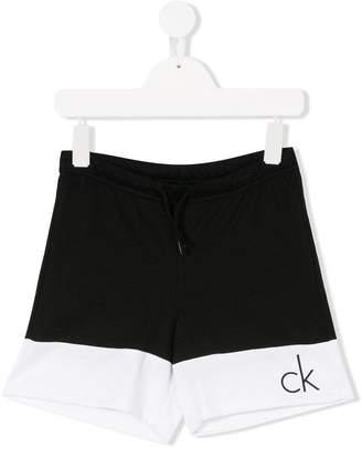 Calvin Klein Kids drawstring track shorts