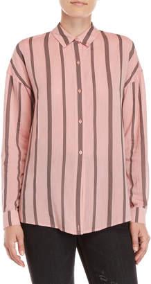 Lucky Brand Pink Stripe Shirt