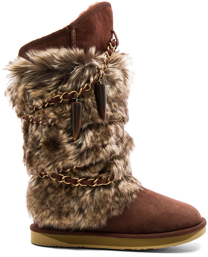 Australia Luxe Collective Australia Luxe Collective Atilla Boot with Faux Fur