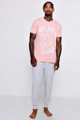 boohoo Snoopy Pyjama Set With Oversized T-Shirt