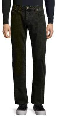 Straight Leg Cotton Jeans