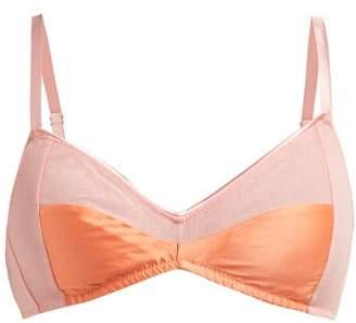 Araks Yanelis Satin Trimmed Mesh Bralet - Womens - Pink