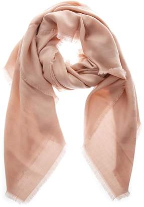 Fendi Pink Shawl In Wool